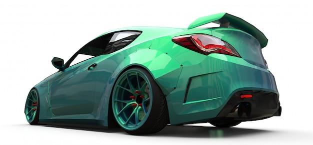 Cupê de carro esportivo pequeno verde