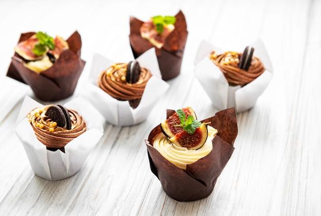 Cupkakes com figos e chocolate