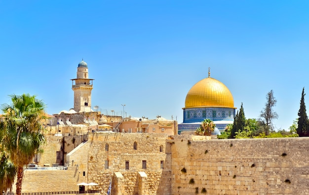 Cúpula da rocha em jerusalém, israel