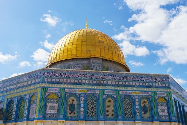 Cúpula da rocha mesquita de al-aqsa, cidade velha de jerusalém, palestina