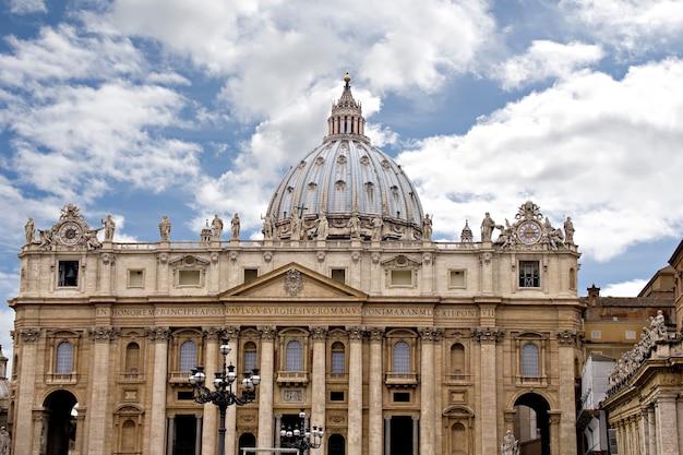 Cúpula de são pedro (basílica di san pietro), vaticano, roma, itália