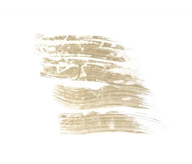 Curso da escova isolado no fundo branco