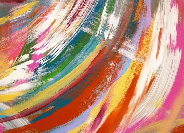 Cursos da escova da pintura de óleo do fundo da arte abstrata.