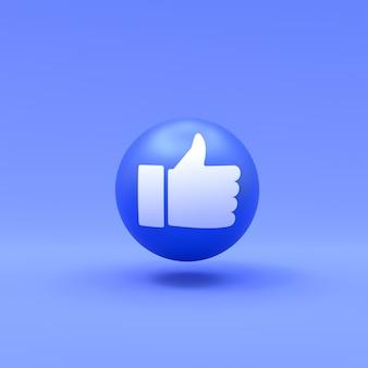 Curtir facebook emoji 3d