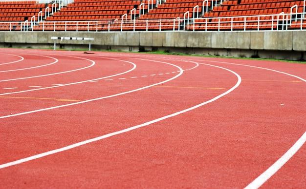 Curva da pista de corrida de esteira de borracha sintética para atividades esportivas ao ar livre