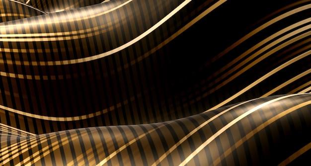 Curva de onda abstrata textura padrão ilusão curva dinâmica listra linha de onda oscilante ilustração 3d