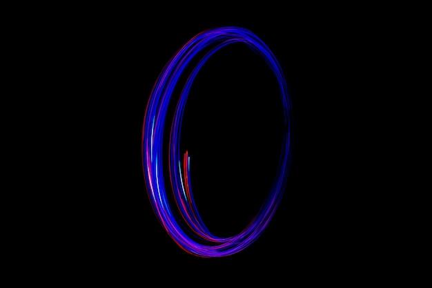 Curva e giro da luz, da luz do diodo emissor de luz.