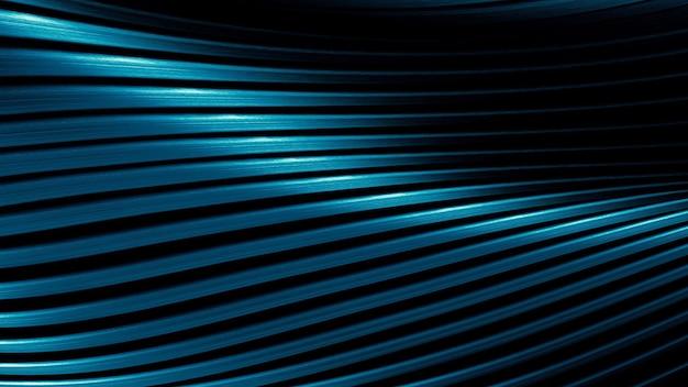 Curvas da grade de metal, o brilho de aço, o fundo abstrato dos elementos de conexão de metal