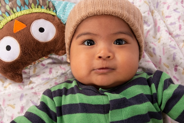 Cute, pequeno, asiático, bebê