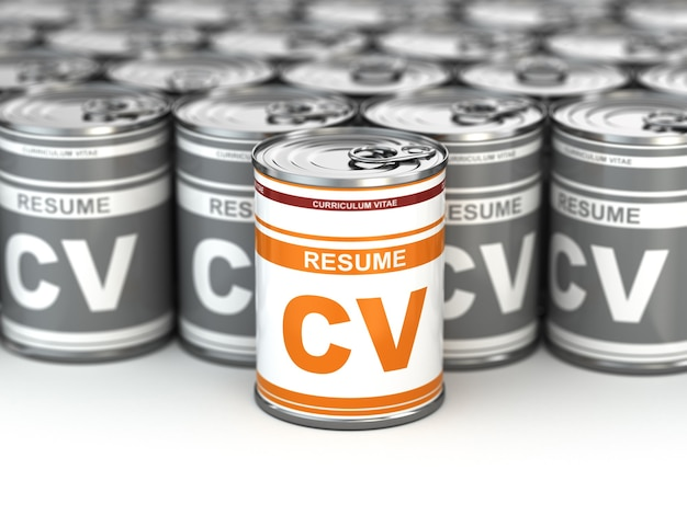 Cv pode imagem conceitual de currículo 3d