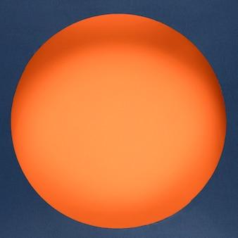 Cyber segunda-feira círculo laranja on-line