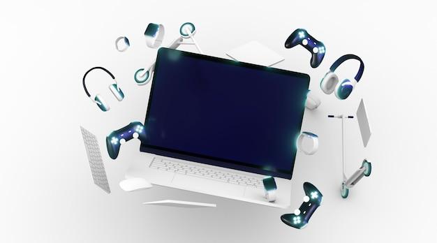 Cyber segunda-feira com fundo branco