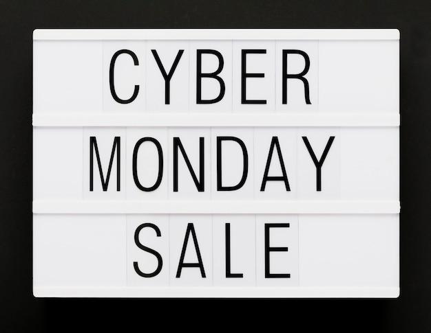 Cyber segunda-feira mensagem promocional