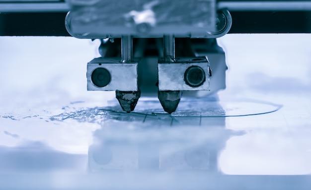 D ação de trabalho da impressora do cabeçote d impressora d processo de impressão