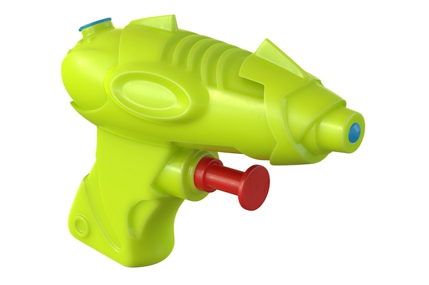 D render de pistola de água de plástico isolada em um fundo branco