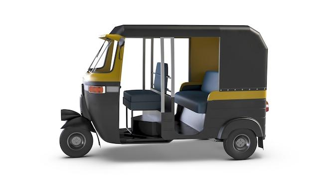 D render do autorickshaw isolado no fundo branco