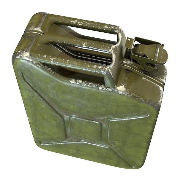D render do bidão verde isolado no branco