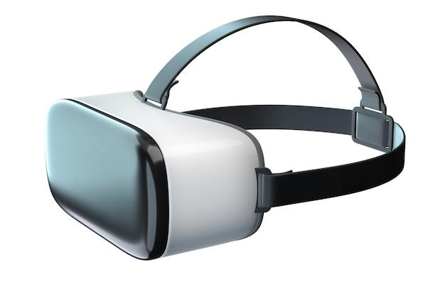 D renderização de googles de realidade virtual isolados no branco