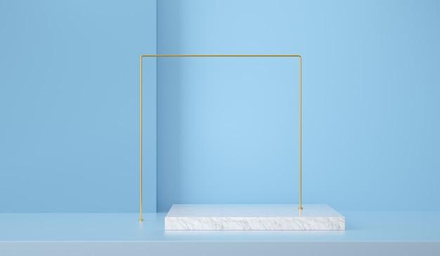 D renderizar a cena abstrata e o fundo das formas para a exibição do produto