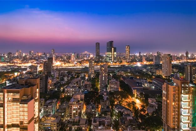 Dadar skyline de mumbai índia