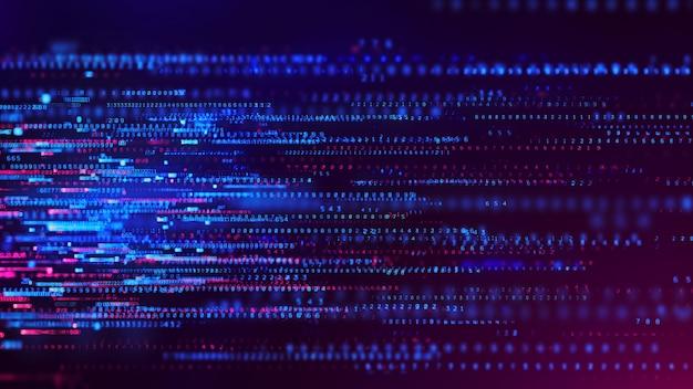 Dados binários e código de streaming