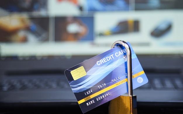 Dados de internet de segurança de cartão de crédito