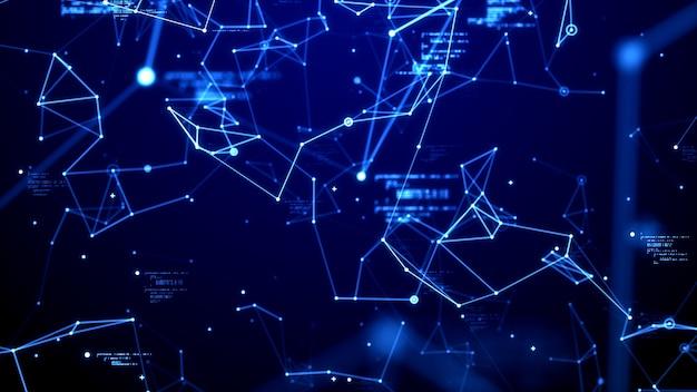 Dados digitais e rede de linha de conexão fundo de tema de tecnologia futurista