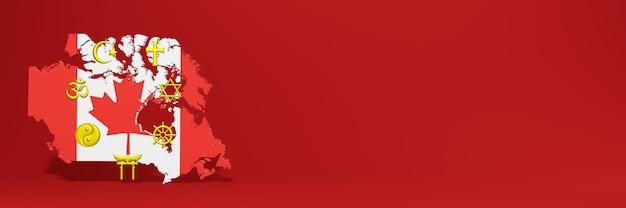 Dados sobre a distribuição de religião e diversidade de pluralismo no canad para capas de sites