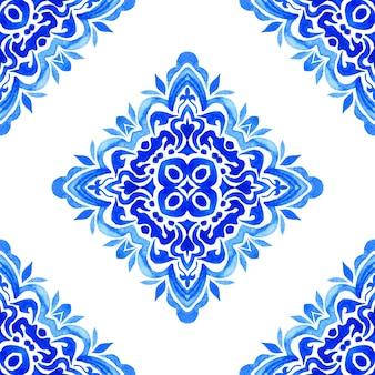 Damasco vintage sem costura ornamental aquarela arabesco pintura padrão de design para tecido