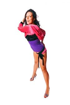 Dançarina ragga em branco