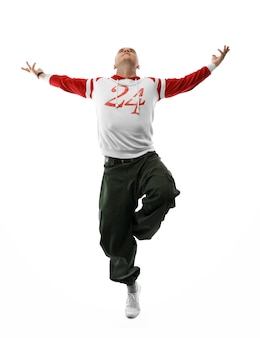 Dançarino de hip-hop, isolado com recorte pach