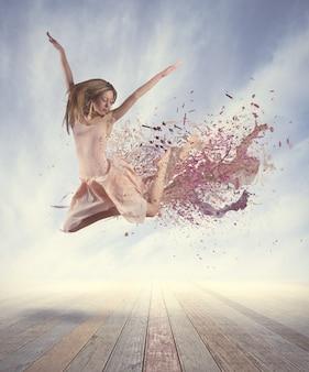 Dançarino pulando