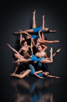 Dançarinos em pose deslumbrante
