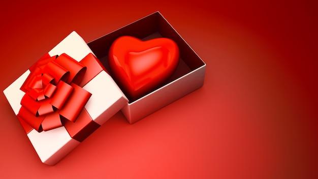 Dando um coração para valentine
