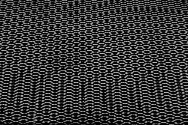 Danificar grade de aço branco em preto