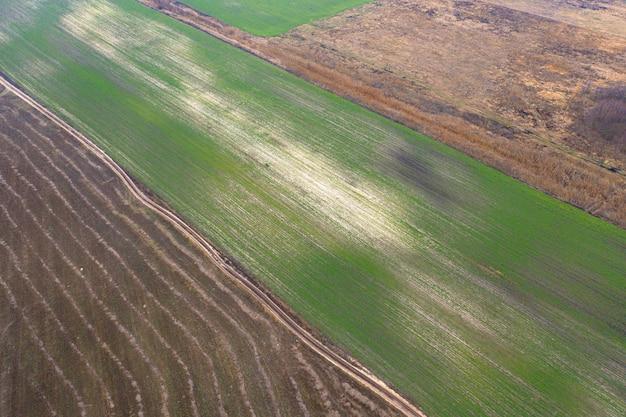 Danos ao meio ambiente devido à atividade agrária humana. abrading.