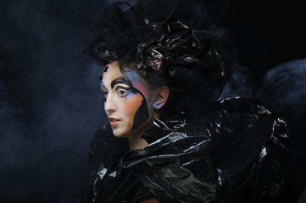 Dark beautiful gothic princess