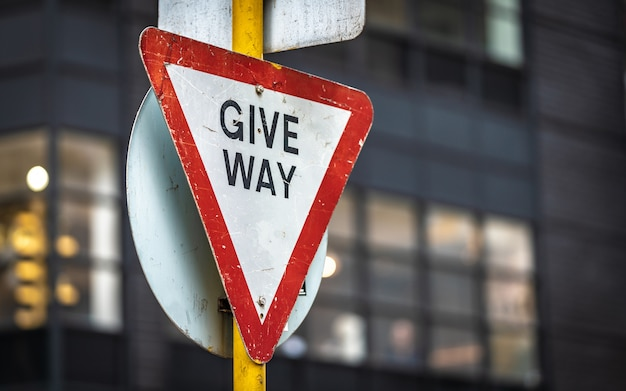 Dê o sinal de tráfego