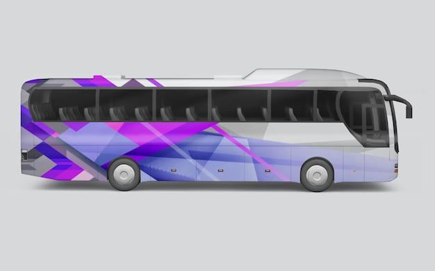 De um ônibus em um fundo branco