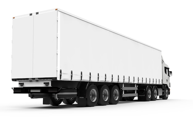 De volta de um grande caminhão branco