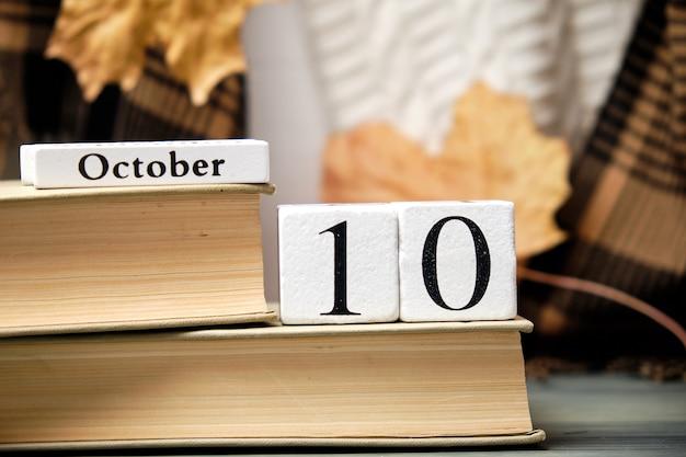 Décimo dia do calendário do mês de outono outubro.