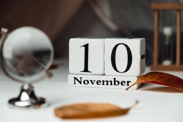 Décimo dia do mês de outono calendário de novembro