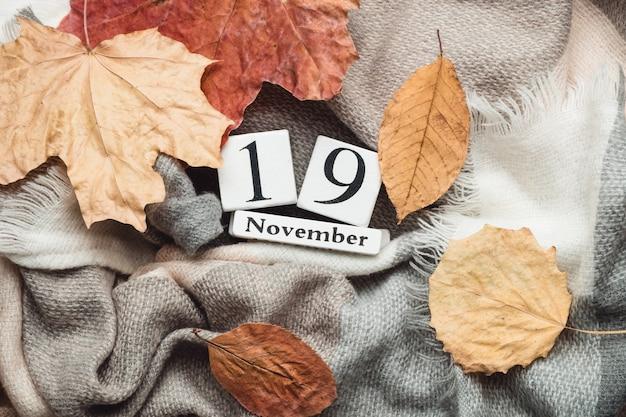 Décimo nono dia do mês de outono calendário de novembro
