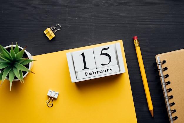 Décimo quinto dia do mês de inverno, calendário de fevereiro.