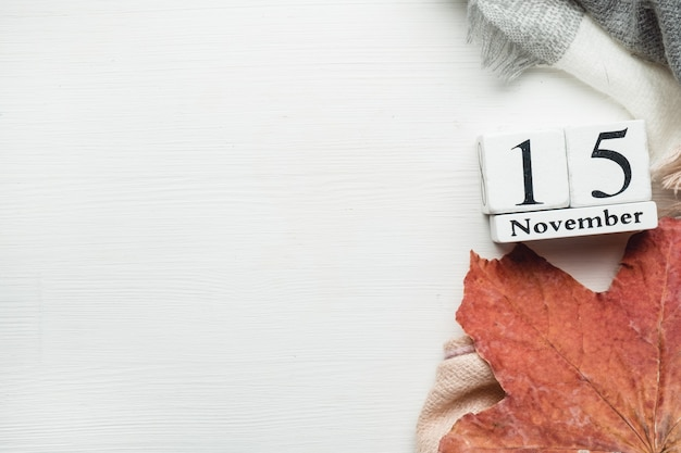 Décimo quinto dia do mês de outono calendário novembro