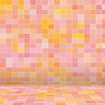 Decoração arte em mosaico de vidro colorido e parede abstrata