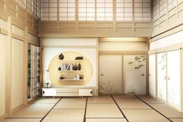 Decoração asiática da casa de dois andares