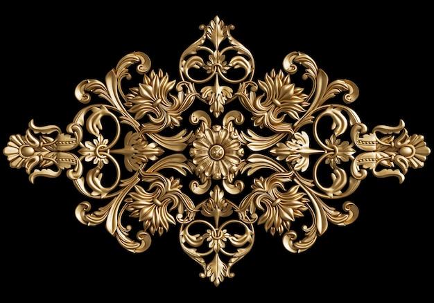 Decoração clássica ornamento isolada