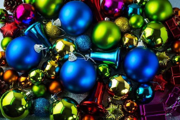 Decoração colorida de natal
