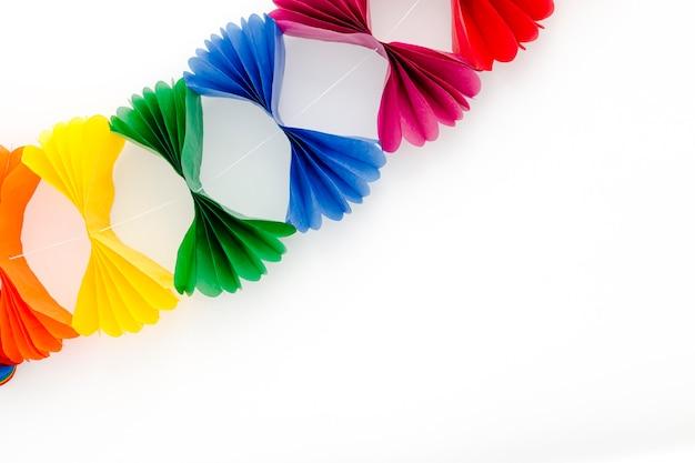 Decoração colorida para festa